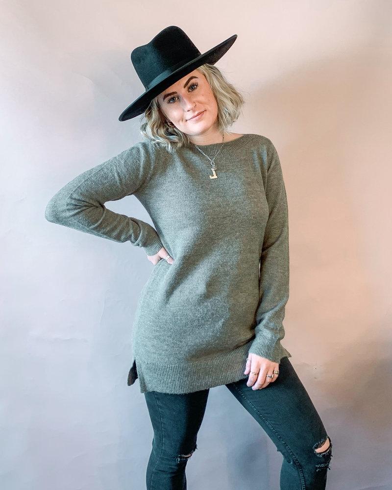 Aliza Tunic Sweater   Khaki
