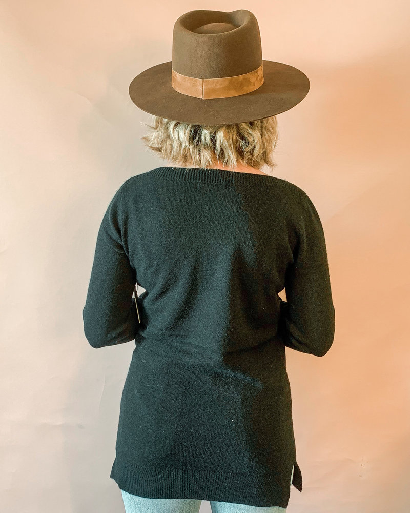 Aliza Tunic Sweater | Black