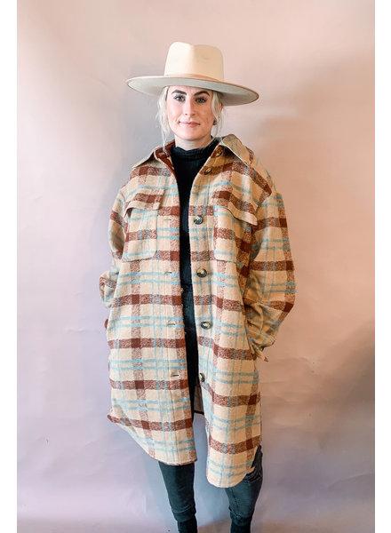 Cookie Coat | Mahogany Check