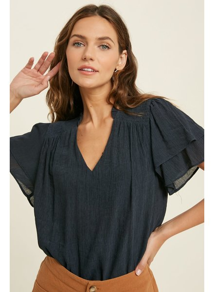 Norma Navy Blouse