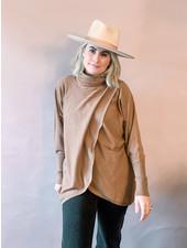 Leia Drape Crossover Sweater