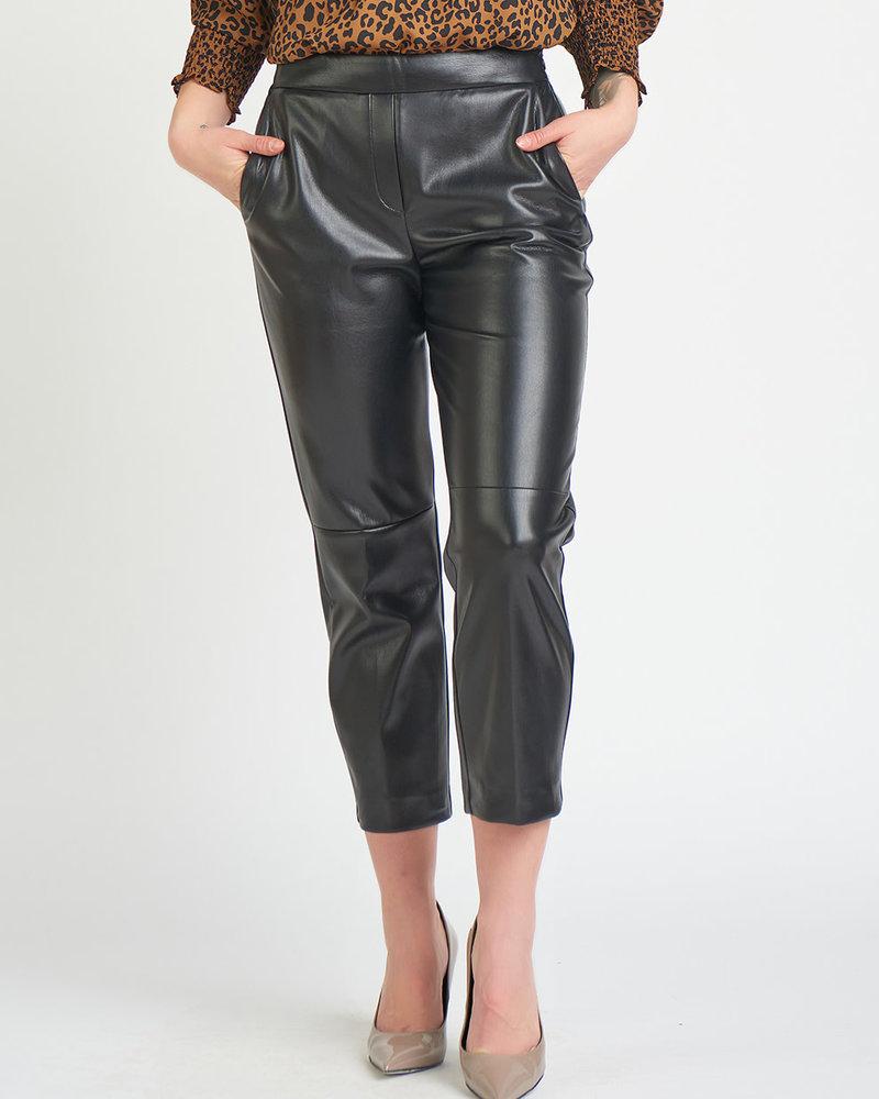 Faux Leather Straight Leg Trouser