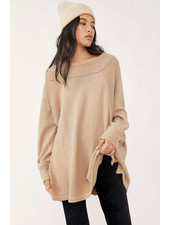Free People She's A Keeper Sweater | Wheat