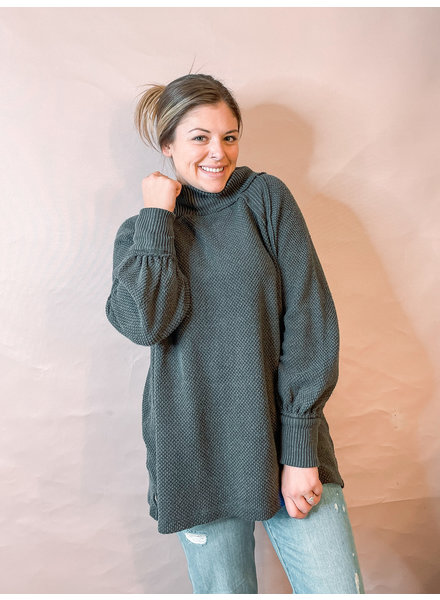 Free People She's A Keeper Sweater   Black