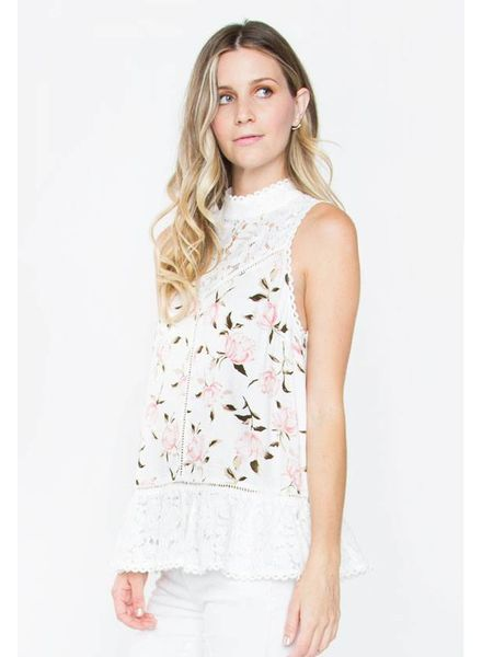 SUGAR + L!PS Carla Floral Lace Top