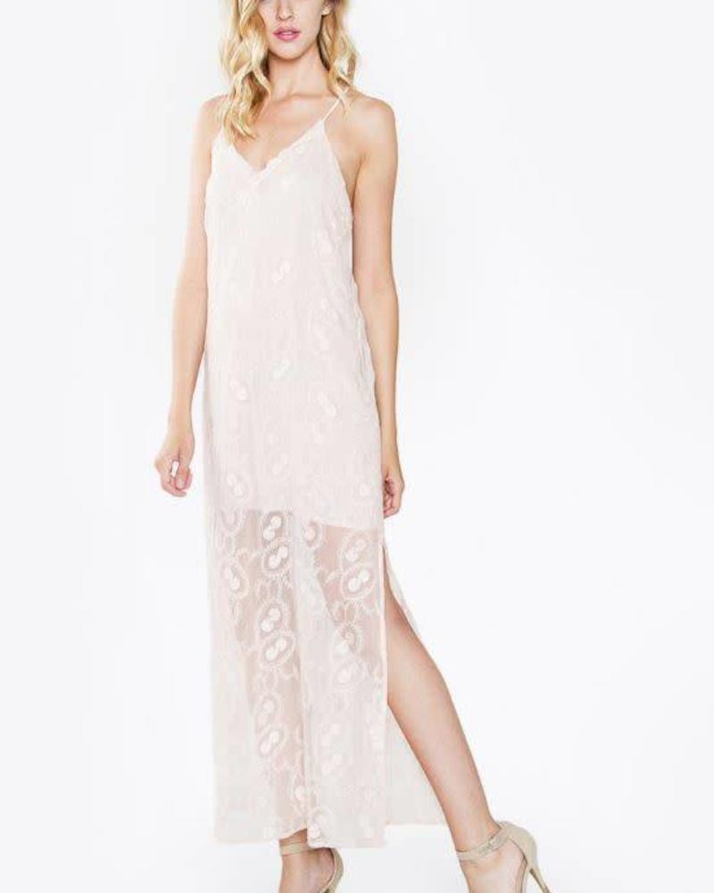 Odette Blush Maxi Dress