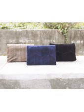Suede Flap Over Mini Crossbody Clutch