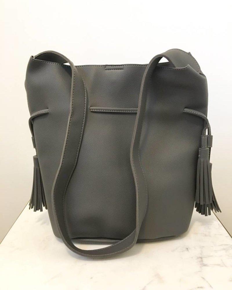 Grey Bucket Shoulder Bag