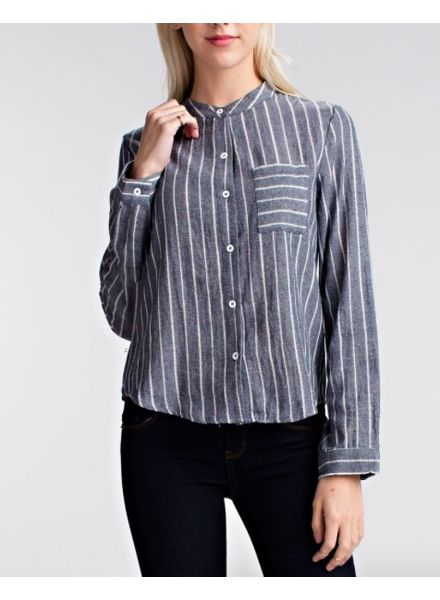 Daisy Gray Pinstripes
