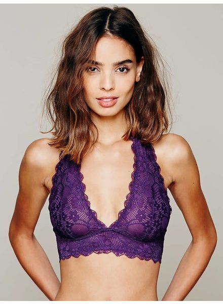 Gallon Lace Halter | Dark Purple