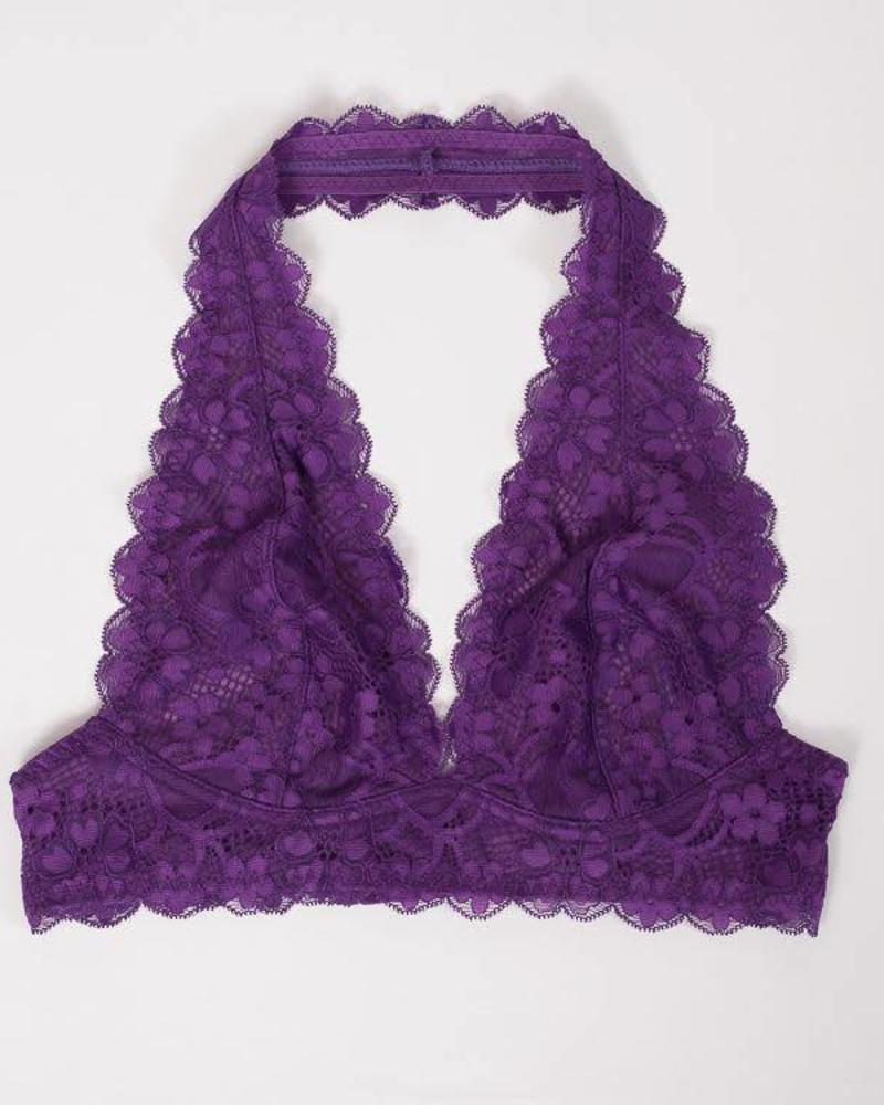 Free People Gallon Lace Halter   Dark Purple