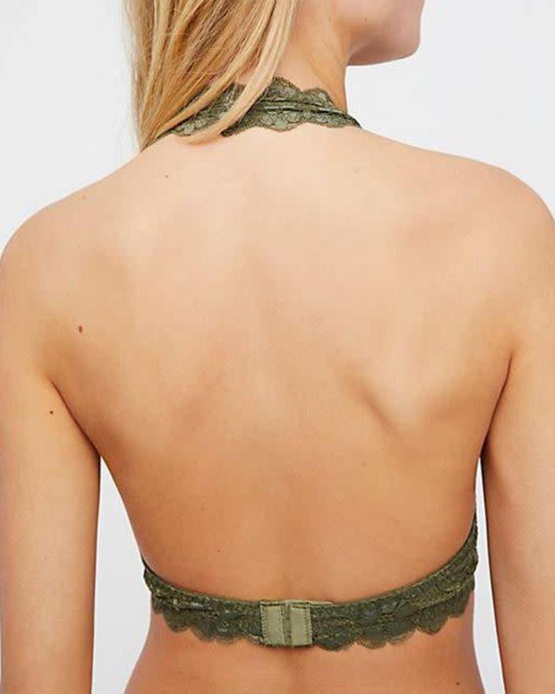 Gallon Lace Halter | Army