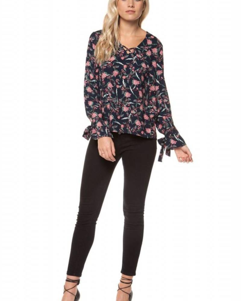Floral V-Neck Printed Top