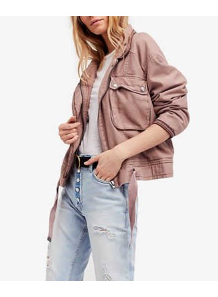 Free People Flight Line Bomber