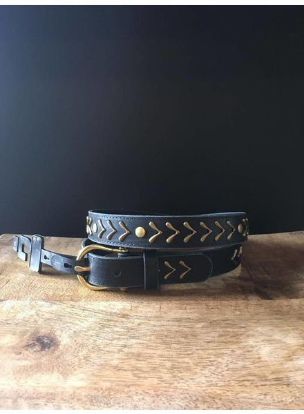 Gold Arrow Leather Belt | LAST ONE - Size XL