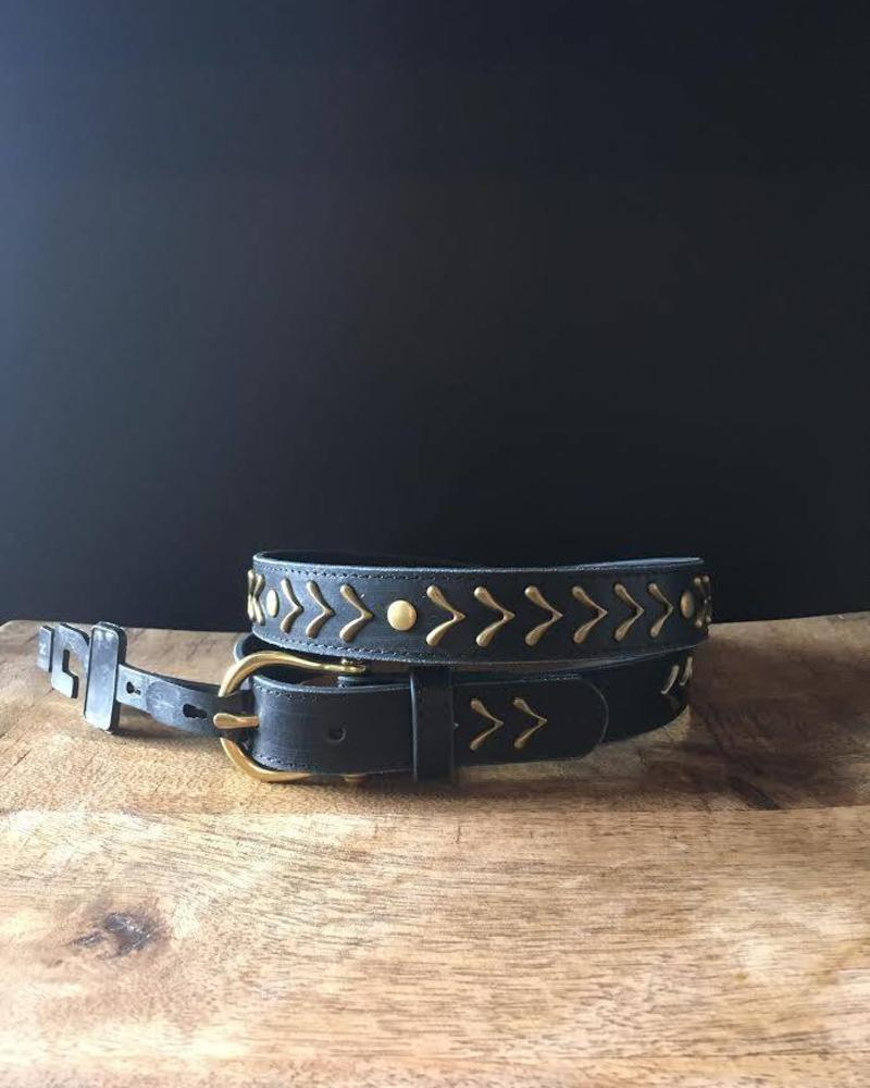 Gold Arrow Leather Belt | LAST ONE - Size XL
