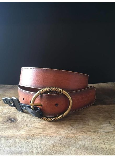 Distressed Brown Leather Belt | LAST ONE - Size XL