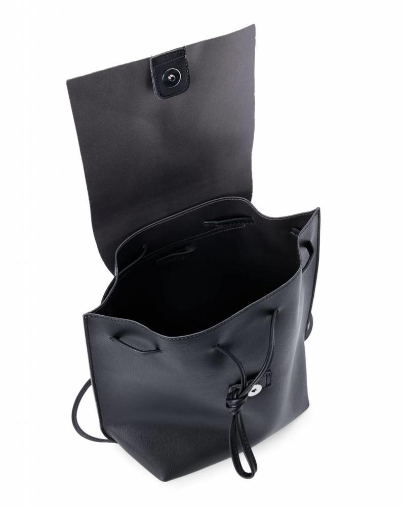 Black Slouchy Thin Backpack