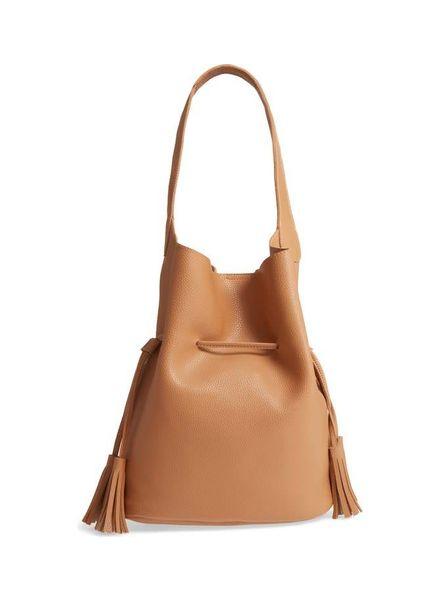 Street Level Brown Bucket Shoulder Bag