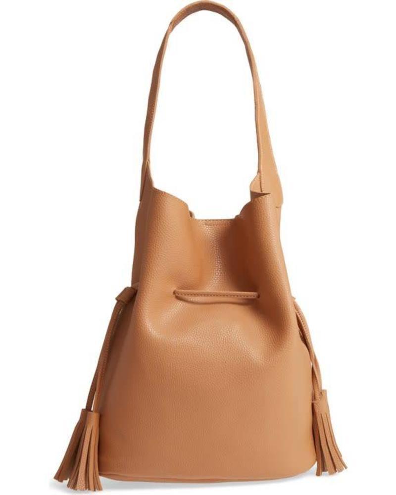 Brown Bucket Shoulder Bag