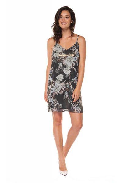 V-Neck Matallic Print Dress