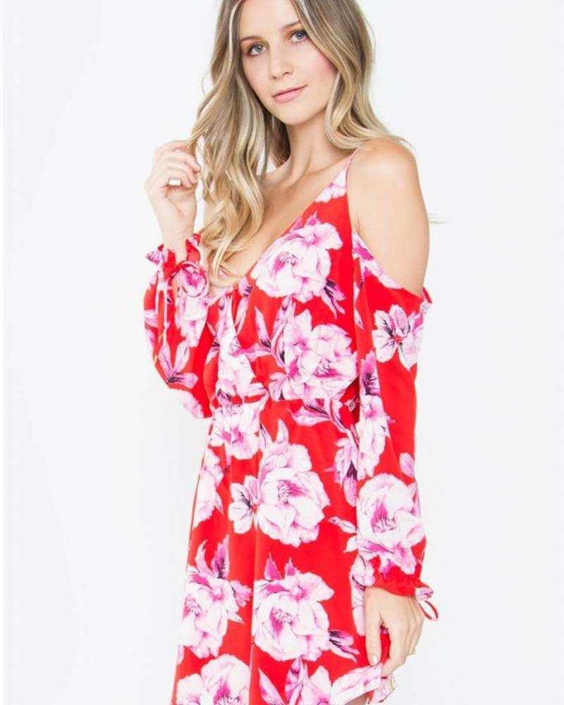 Linsey Floral Cold Shoulder Dress