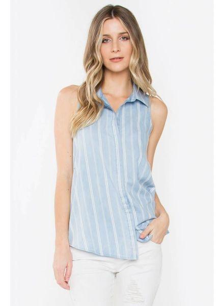 Jada Pleated Button-Back Shirt