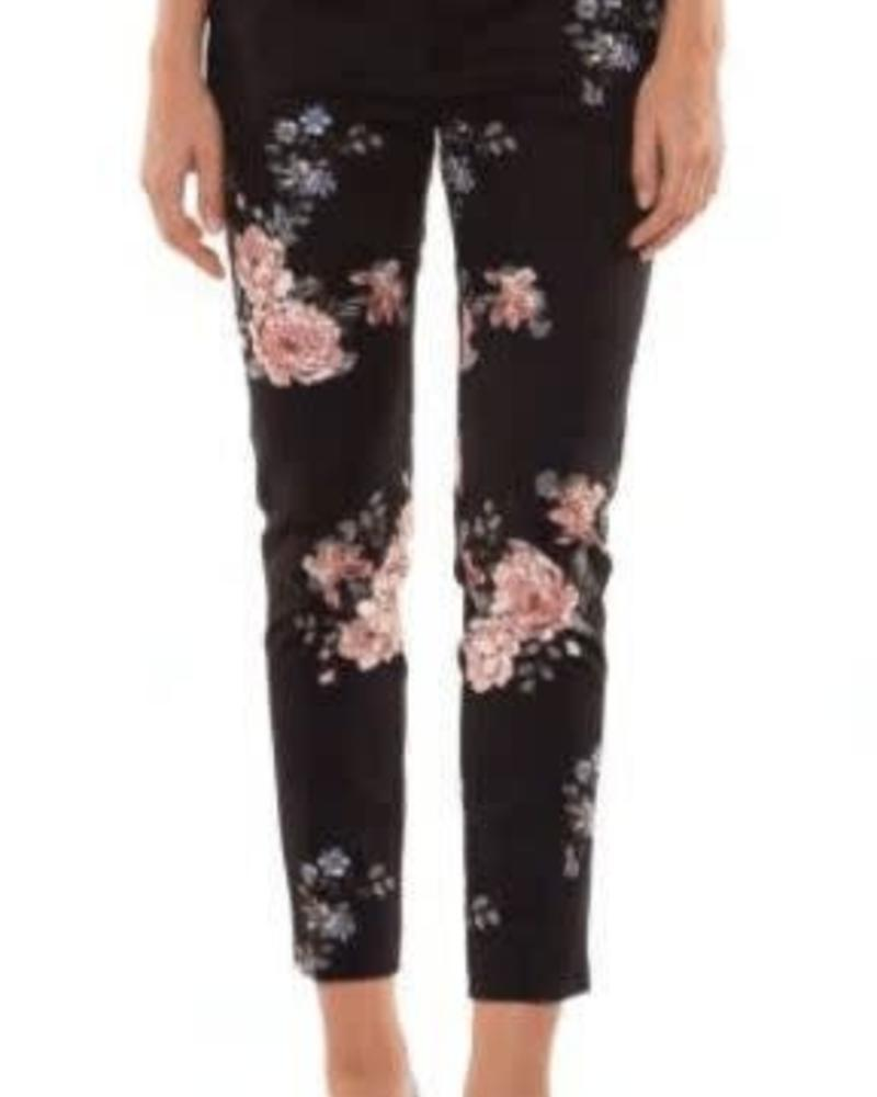 Black Tape/Dex Floral Printed Pants