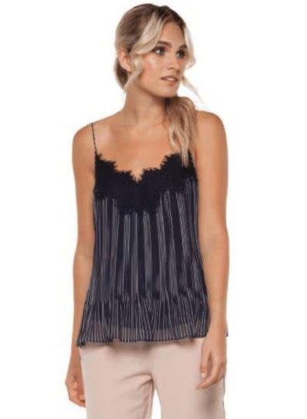 Pleated Stripe Cami