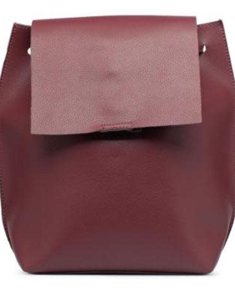 Wine Slouchy Thin Backpack