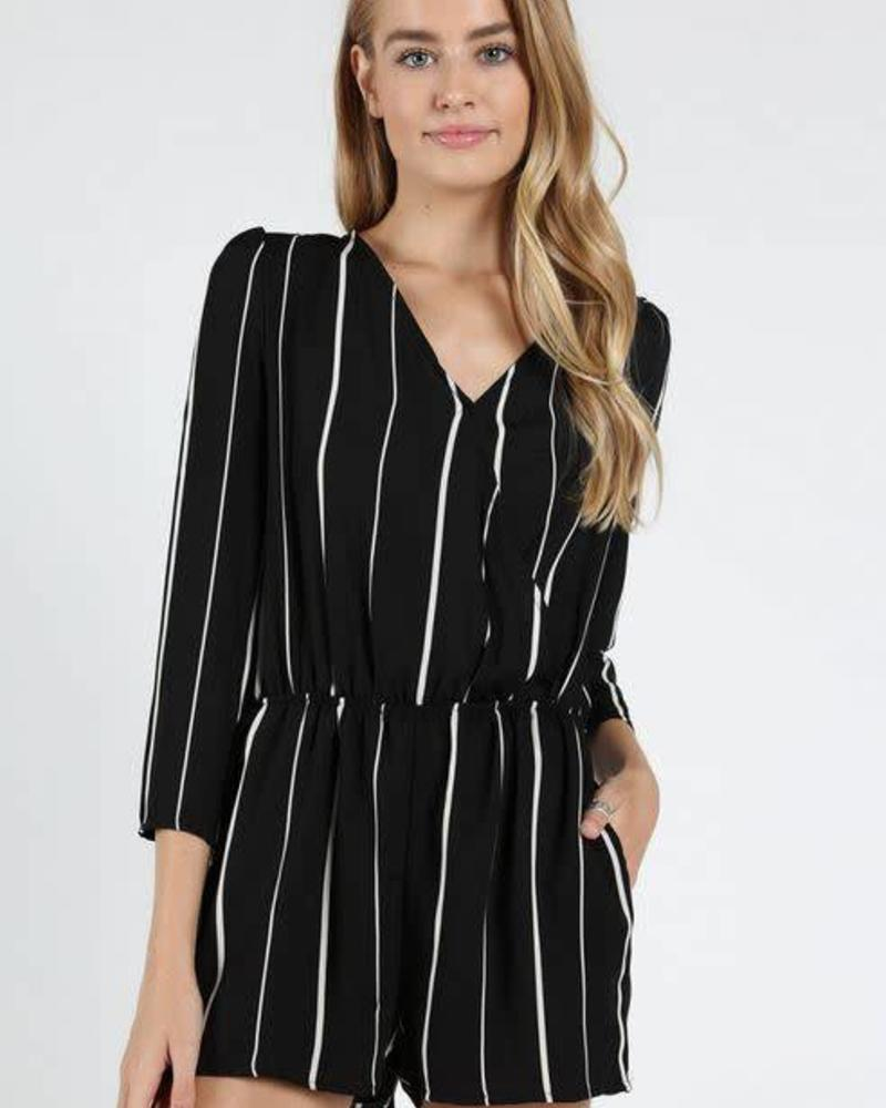 Honey Punch Striped Romper