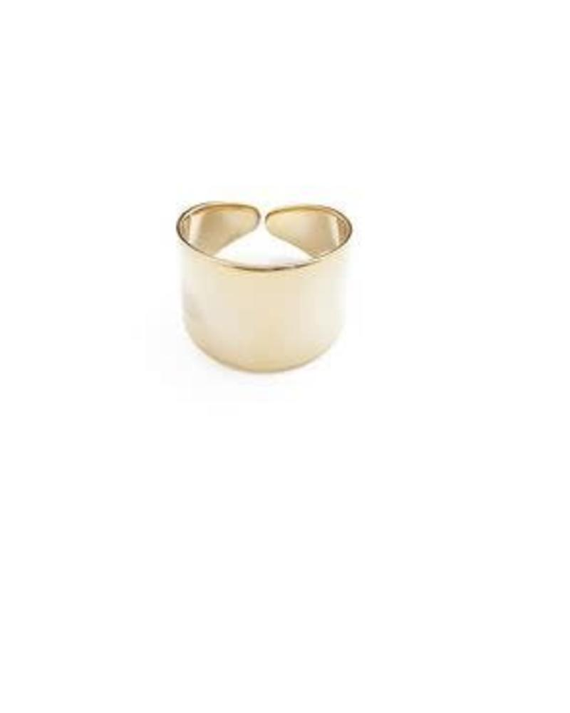 Thick Wrap Ring / 24 Gold Plate