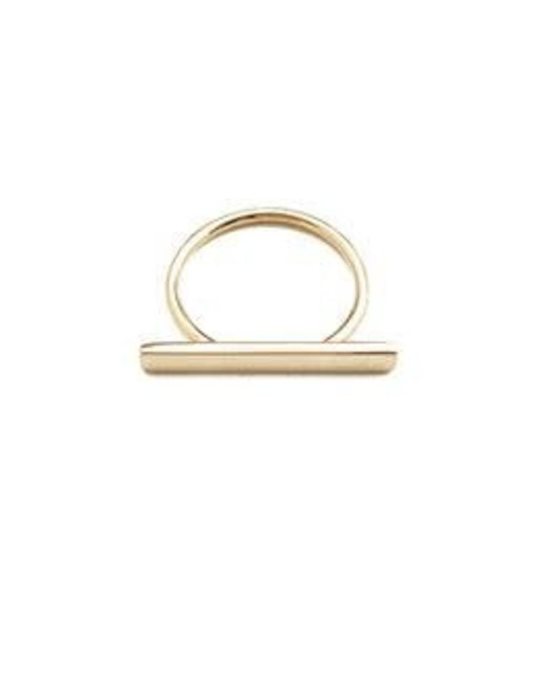 Long Bar Ring / 24 Gold Plate