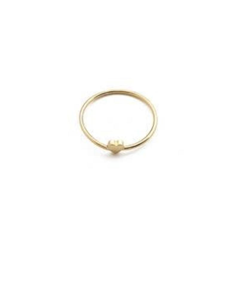 Mini Heart Ring / 24 Gold Plate