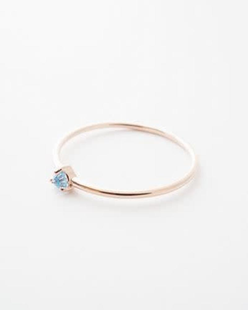Crystal Point Ring / 24 Gold Plate