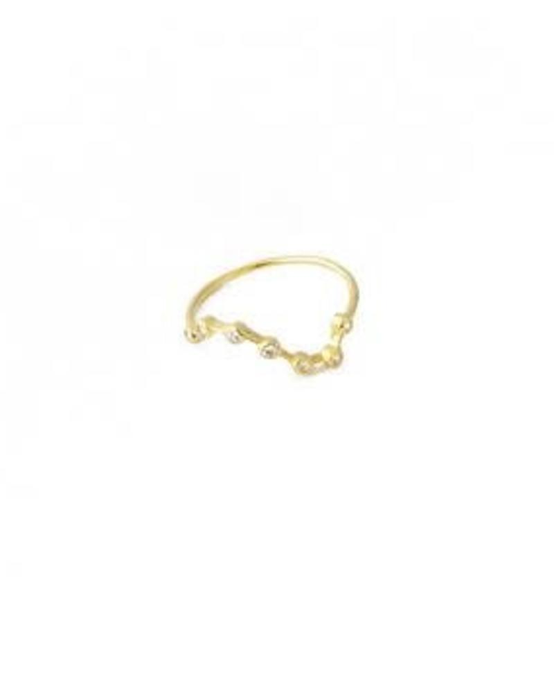 Constellation Ring / 24 Gold Plate
