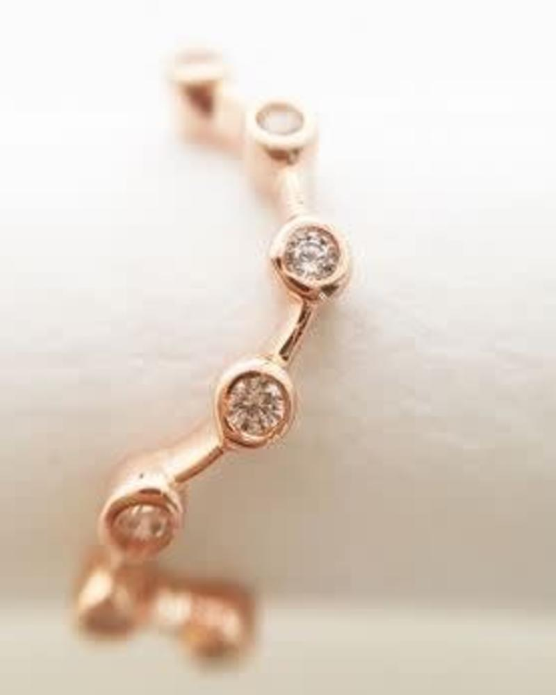 HONEYCAT Constellation Ring / Rose Gold Plated