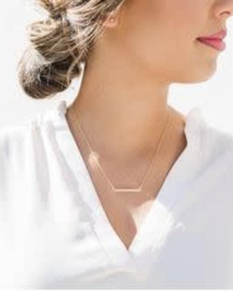 HONEYCAT Classic Bar Necklace / 24K Gold Plate