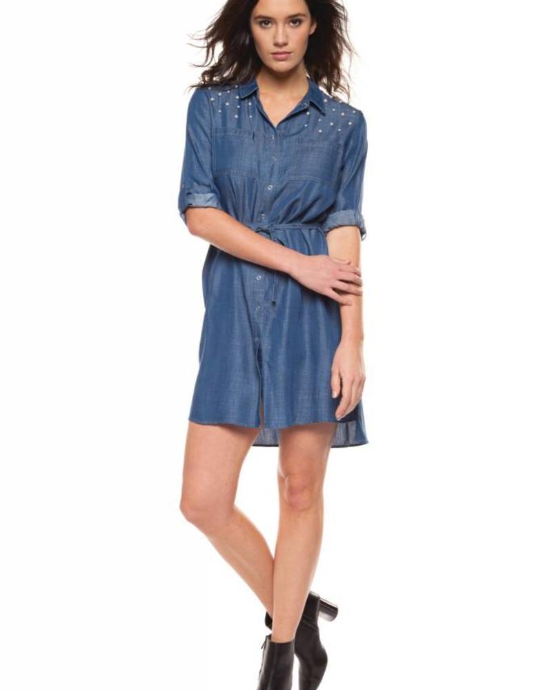 Dress Blouse w/ Pearl Detailing
