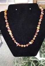 """Earthtone Stone Necklace set 18"""""""
