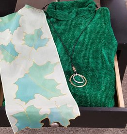 Green Chenille Sweater