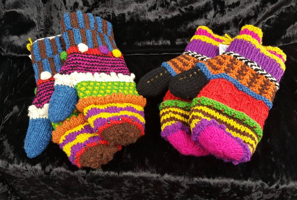 Hand Knitted Lined Mittens