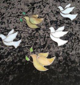 3 Part Dove w/Leaves