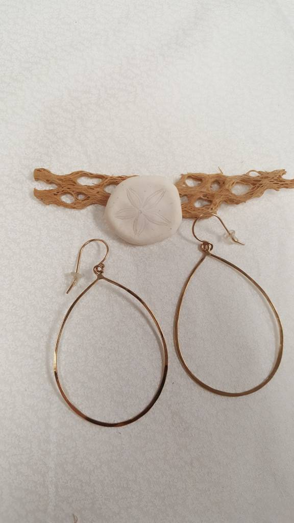 14/20 Gold Fill Oval Drop Earrings