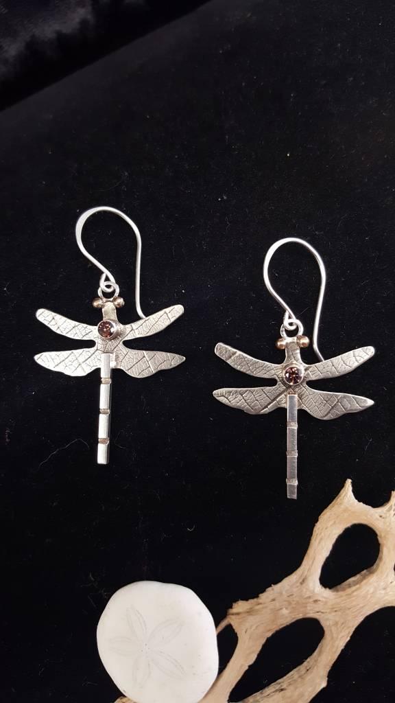 132 Dragonfly Earrings w/Colorado Topaz