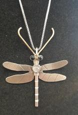 136 Dragonfly Pendant w/onyx & labordite
