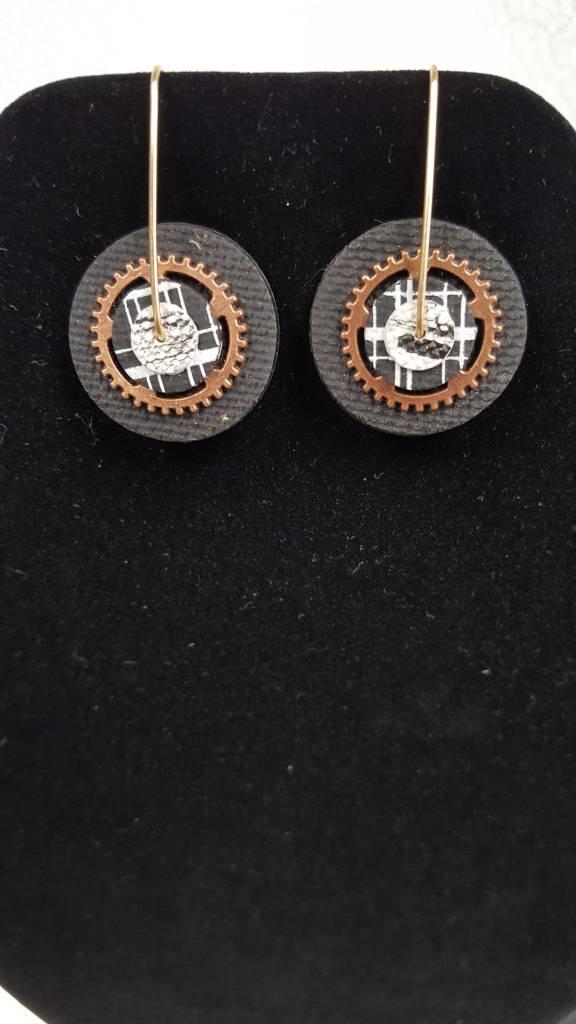 224 Polymer Clay Dangle earrings w/silver wire