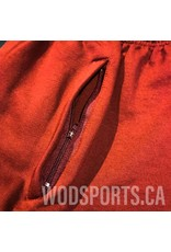Filthy 50 FILT50 FLEECE SHORTS BURGUNDY