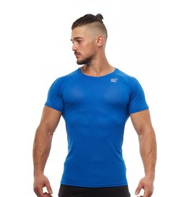 JED NORTH JED NORTH SPEAR MESH WORKOUT TEE - BLUE