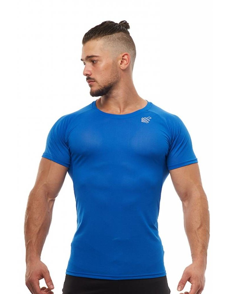 JED NORTH JED NORTH SPEAR MESH WORJOUT TEE - BLUE